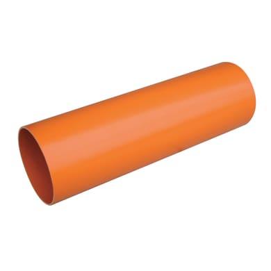 Tubo per evacuazione acqua arancio in pvc Ø 80 mm L 1 m