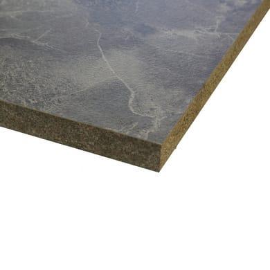 Piano cucina in laminato grigio L 304 x P 63 cm, spessore 3.8 cm