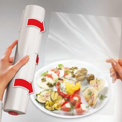 Dispenser per pellicola da appoggio in plastica