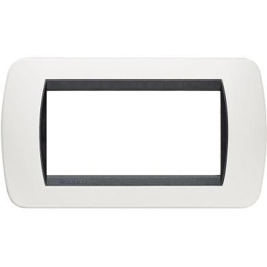 Placca BTICINO Living International 4 moduli bianco
