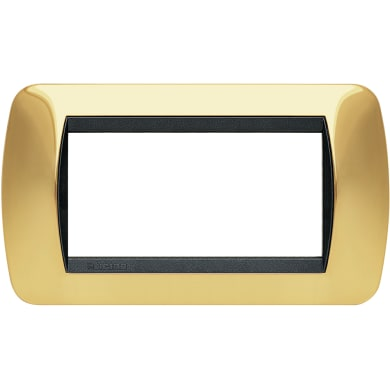 Placca BTICINO Living International 4 moduli oro