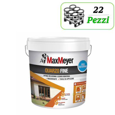 Pittura al quarzo MaxMeyer Fine bianco 14 L