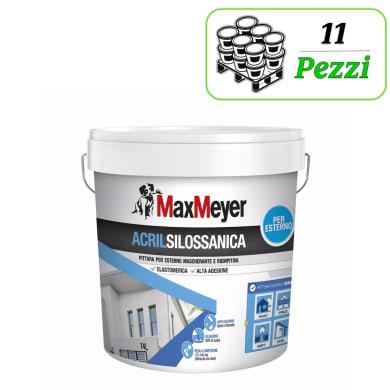 Pittura acrilsilossanica e elastomerica MaxMeyer Acrilsilossanica bianco 14 L
