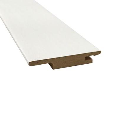 Coprifilo in legno  bianco L 6 x P 1 x H 225 mm