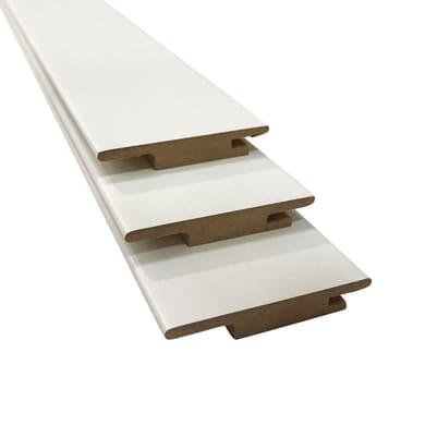Kit coprifilo in legno  bianco L 6.3 x P 1 x H 225 mm