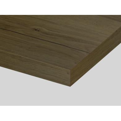 Piano cucina in laminato rovere biondo L 304 x P 63 cm, spessore 3.8 cm