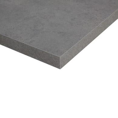Alzatina melaminico grigio L 300 x Sp 2.7 cm