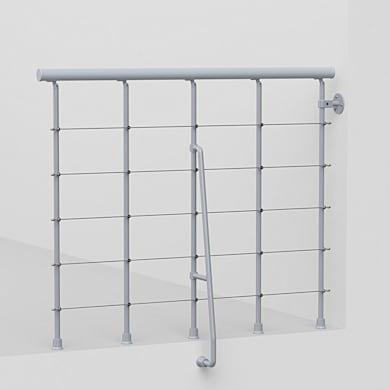 Balaustra FONTANOT in acciaio grigio L 120 x H 0 cm