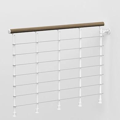 Kit balaustra FONTANOT in acciaio L 120 x H 0 cm bianco