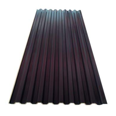 Lastra coppo in acciaio 100 x 190 cm, Sp 0.4 mm marrone