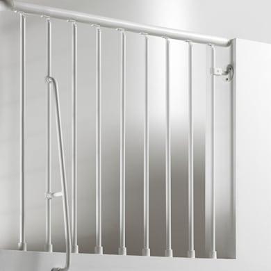 Balaustra FONTANOT in acciaio grigio antracite L 120 x H 0 cm
