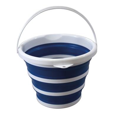 Secchio in plastica 10 L blu/bianco - grigio/bianco