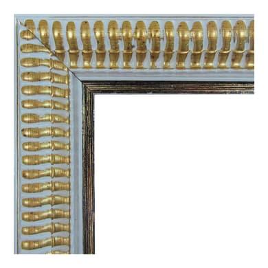 Specchio con cornice a parete rettangolare Elda bianco<multisep/>oro