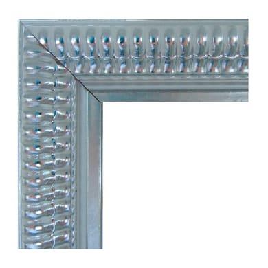 Specchio con cornice a parete rettangolare Elda bianco e argento