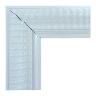 Specchio con cornice a parete rettangolare Elda bianco