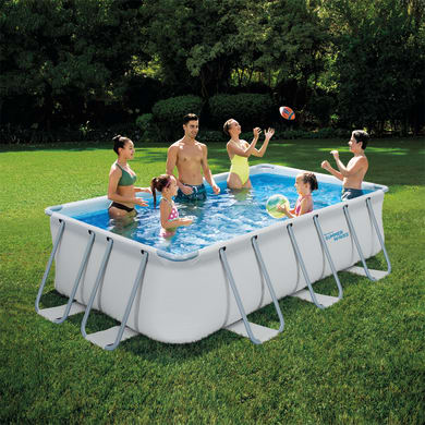 Piscina fuori terra rettangolare SUMMER WAVES 13FT rectangular frame pool
