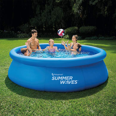 Piscina fuori terra tonda autoportante SUMMER WAVES 10FT  Quick Set Ring Pool