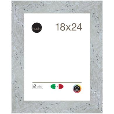 Cornice Chamonix argento per foto da 18x24 cm