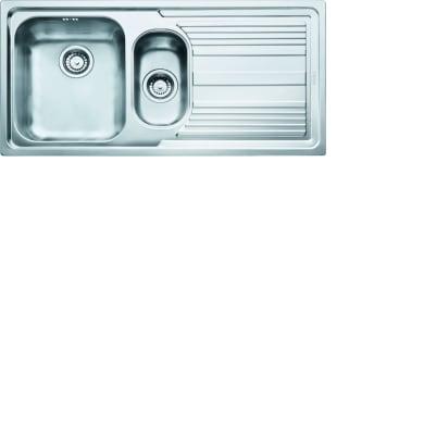 Lavello da incasso Logica Line 100 x 50 cm 1.5 vasche con gocciolatoio