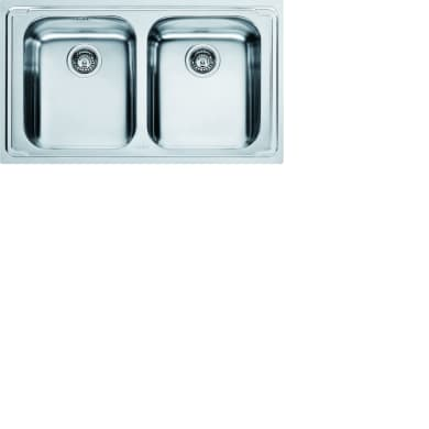 Lavello da incasso Logica line 86 x 50 cm 2 vasche