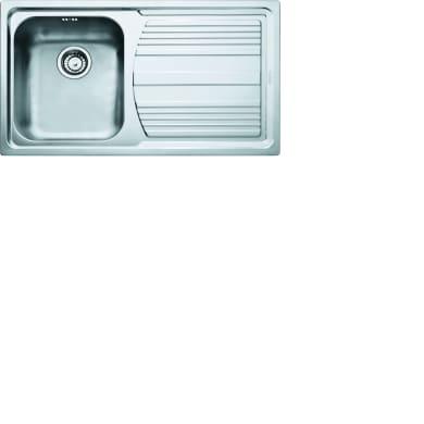 Lavello da incasso Logica Line 86 x 50 cm 1 vasca con gocciolatoio