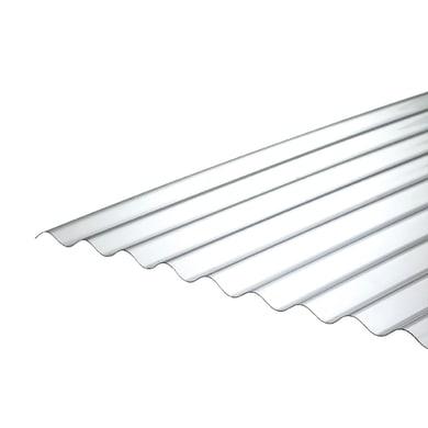 Lastra ondulata ONDULINE Onduclair PC Passo 76/18 in policarbonato H 112 x L 200 cm, Sp 0.8 mm