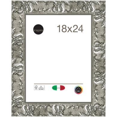 Cornice Sylvia argento per foto da 18x24 cm