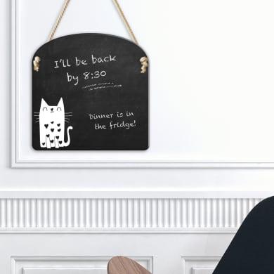 Lavagna per gesso M white cat bianco e nero 30x30 cm