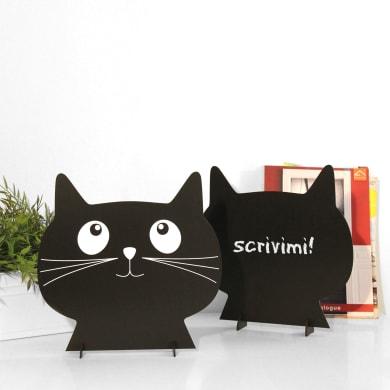 Lavagna per gesso Silhouettes cat's head bianco e nero 31x31 cm