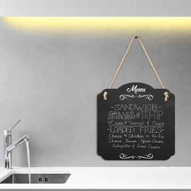 Lavagna per gesso M menu bianco e nero 30x30 cm