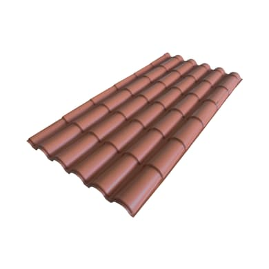 Lastre finto coppo/tegola in polimglass® 99 x 209 cm, Sp 2 mm terracotta