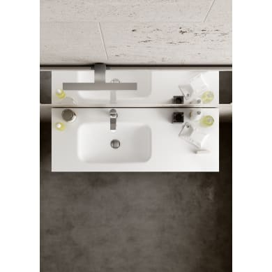 Mobile bagno Pull bianco opaco L 119.5 cm