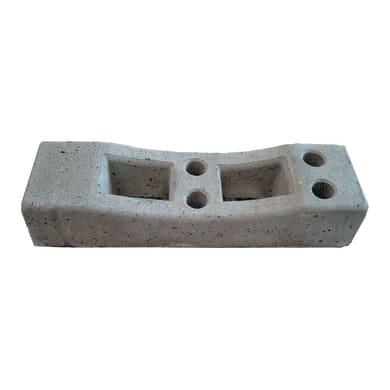 Plintino da recinzione e cantiere Plintino in CLS per recinzioni mobili L 70 x H 13 cm
