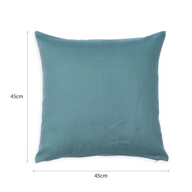 Cuscino INSPIRE Leya Aqua blu 45x45 cm