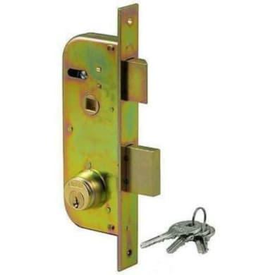 Serratura a incasso cilindro per cancello o rete, entrata 3 cm, interasse 85 mm