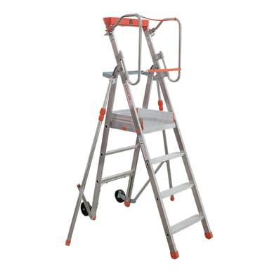 Scala doppia FACAL Platea in alluminio 3 gradini per lavori fino a 2.8 m