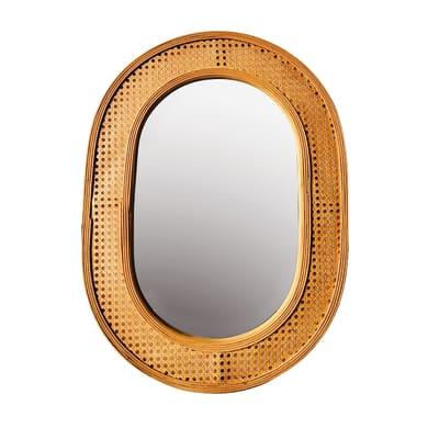 Specchio a parete ovale specchio brigitte ruggine