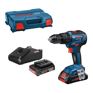 Trapano a batteria con percussione brushless BOSCH PROFESSIONAL GSB 18V-55 18 V, 4 Ah, 2 batterie