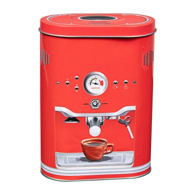 Contenitore da cucina in acciaio rosso