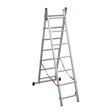 Scala a sfilo FACAL Stilo 2 rampe in alluminio 2x7 gradini per lavori fino a 4 m