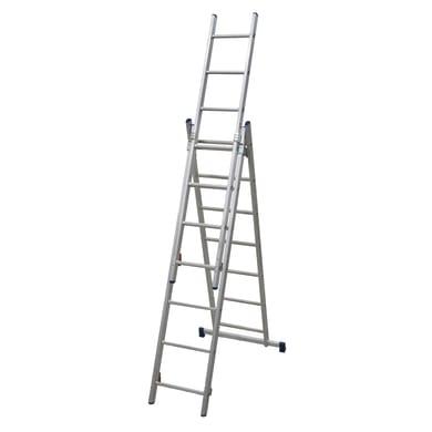 Scala a sfilo FACAL Stilo 3 rampe in alluminio 3x7 gradini per lavori fino a 5.1 m