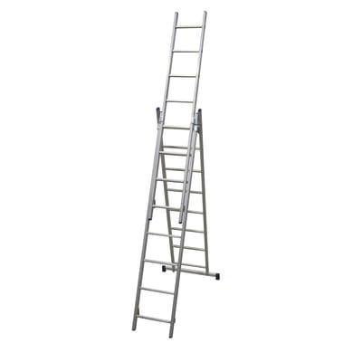 Scala a sfilo FACAL Stilo 3 rampe in alluminio 3x8 gradini per lavori fino a 6 m