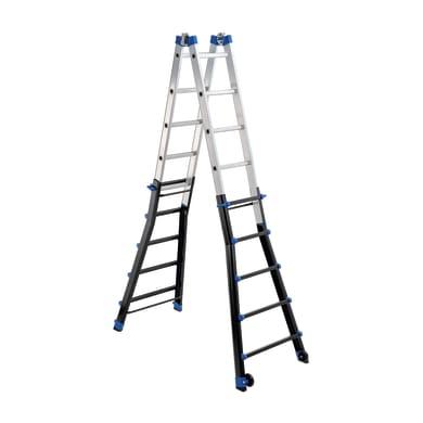 Scala telescopica GIERRE Professionale in alluminio per lavori fino a 7.12 m