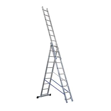 Scala a sfilo GIERRE Trasformabile tripla professionale in alluminio 3x10 gradini per lavori fino a 7.2 m