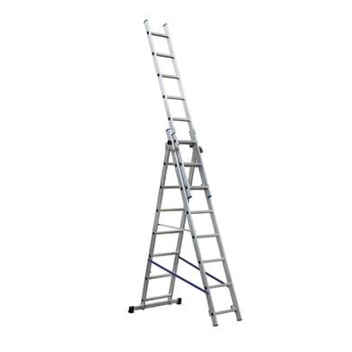 Scala a sfilo GIERRE Trasformabile Tripla professionale in alluminio per lavori fino a 5.3 m
