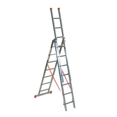 Scala a sfilo FACAL Genia 3 rampe in alluminio 3x7 gradini per lavori fino a 5.92 m