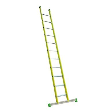 Scala ad appoggio FACAL Vetroprima Singola in fibra di vetro 13 gradini per lavori fino a 5 m