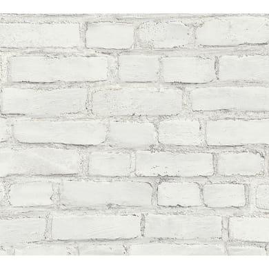 Carta da parati Newstudio Decowall bianco, 53 cm x 10.05 m