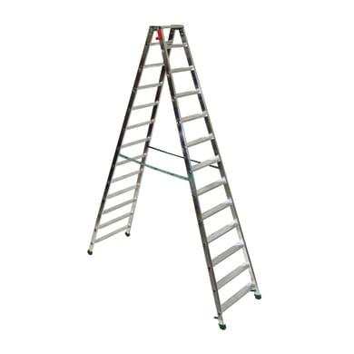 Scala doppia FACAL Dupla in alluminio 12 gradini per lavori fino a 4.24 m