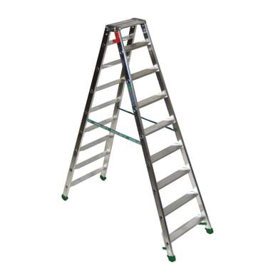 Scala doppia FACAL Dupla in alluminio 9 gradini per lavori fino a 3 m